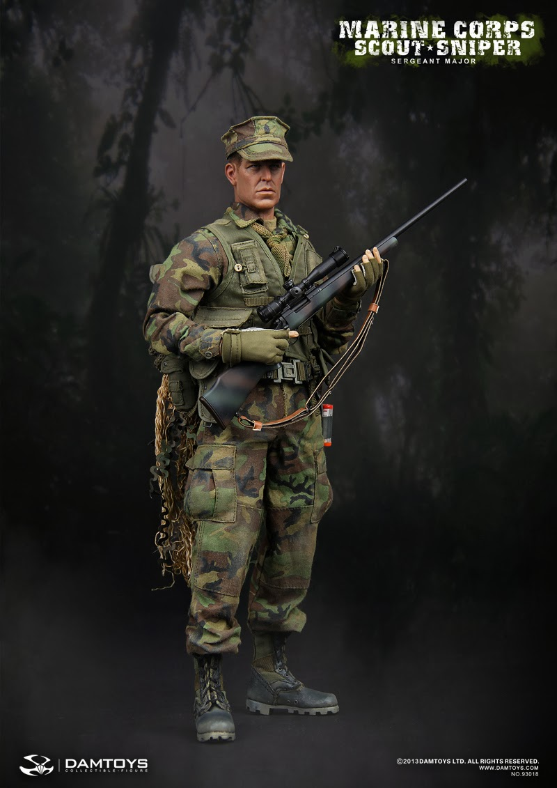 Pointblanktoys Com Damtoys 1 6 Marine Corps Scout Sniper