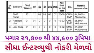 Western Railway, Bhavnagar Division Recruitment for Staff Nurse & Other Posts 2020