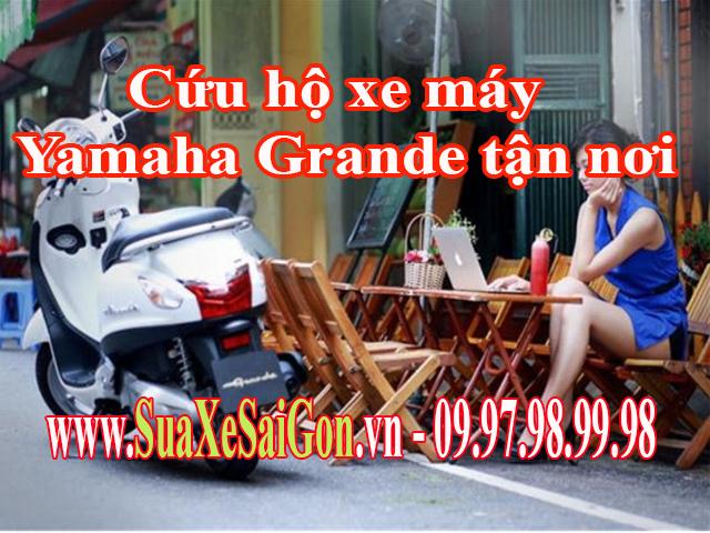 Cứu hộ xe máy Yamaha Grander tận nơi tại TpHCM. Gọi 0902623186 để sửa xe