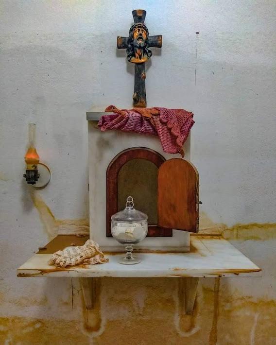Sagrário e hóstias do milagre em Lacerdina. Foto de Carangola notícias
