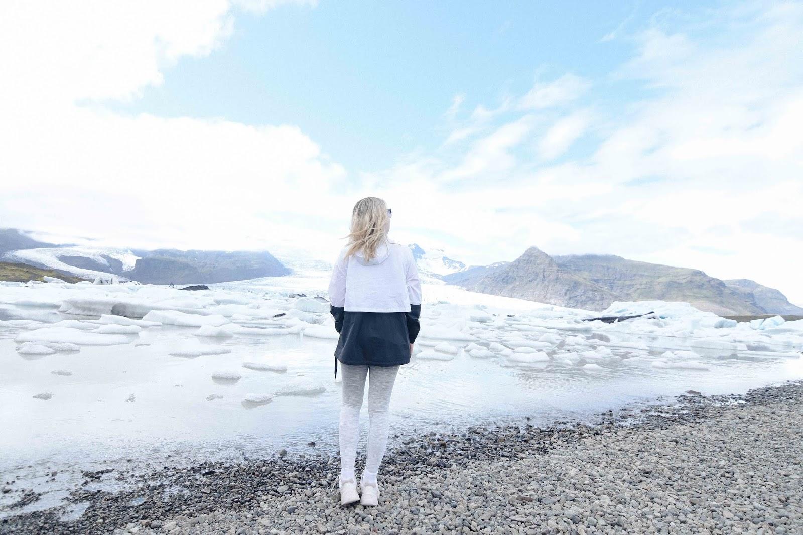 iceland drive travel to Glacier Lagoon/Jökusárlón and Diamond Beach and fjallsarlon
