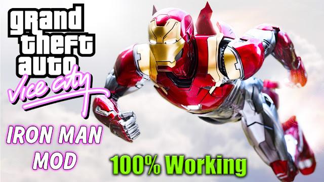GTA VICE CITY IRON MAN MOD WITH SUPER POWERS