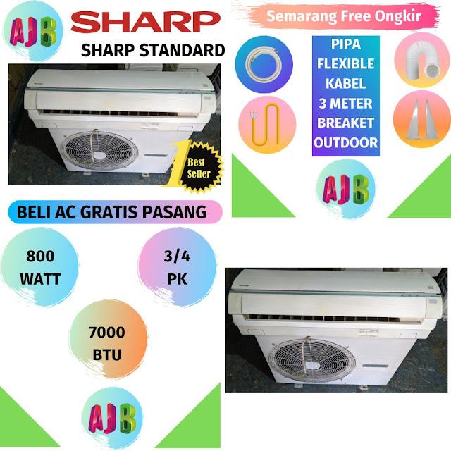 Jual AC Sharp 3/4 PK Gratis Pemasangan