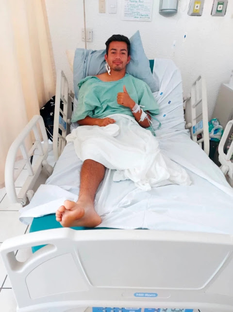 Mexican footballer, Rodrigo Alain Cuevas leg has been amputated after electric shock