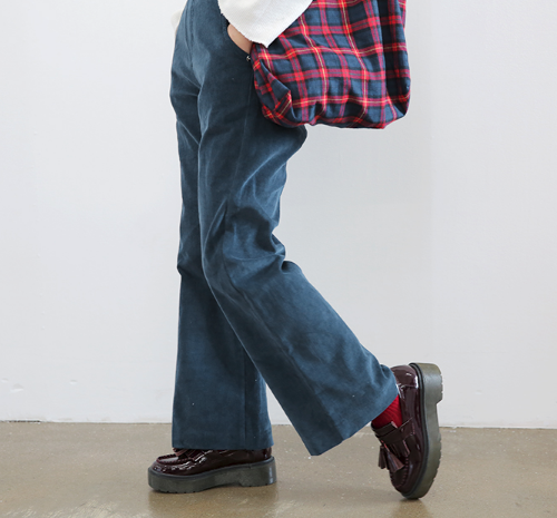 Corduroy Wide Leg Overall Pants