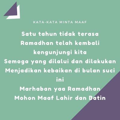 kata kata minta maaf menjelang bulan ramadhan