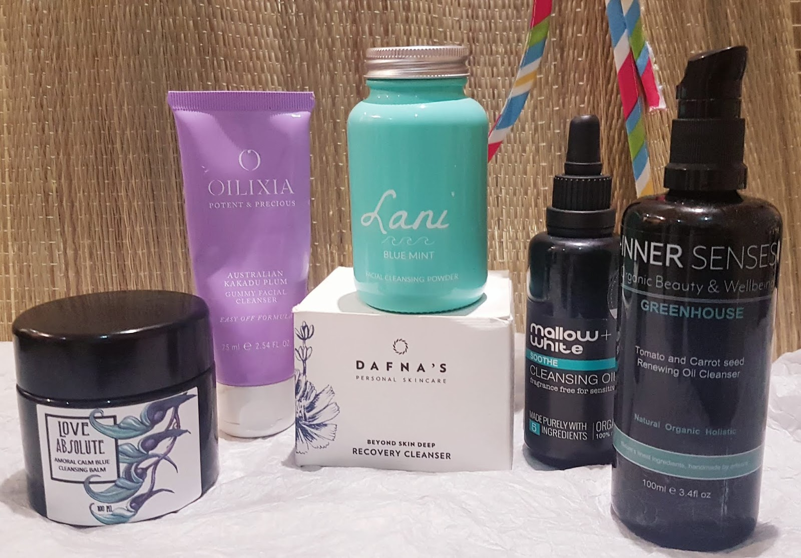 Best of Ethical Skincare 2019 - Cleansers: Oilixia Lani Inner Senses Mallow + White Love Absolute Dafnas