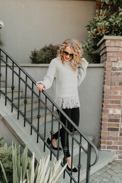 moon river fringe sweater