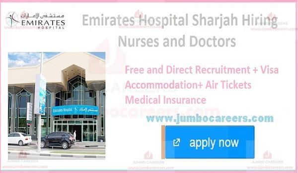 Emirates Hospital UAE Sharjah Careers Hiring Nurse and Doctors