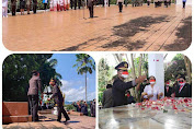 Di acara ba ambor bunga deng ziarah di hari jadi RI Ke -76, Kapolres Minahasa Jadi Irup.