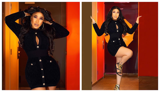Glamorous! Tonto Dikeh shares new Photo as she rocks her Black Outfit