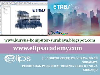 KURSUS ETABS SURABAYA | ELIPS ACADEMY COMPUTER