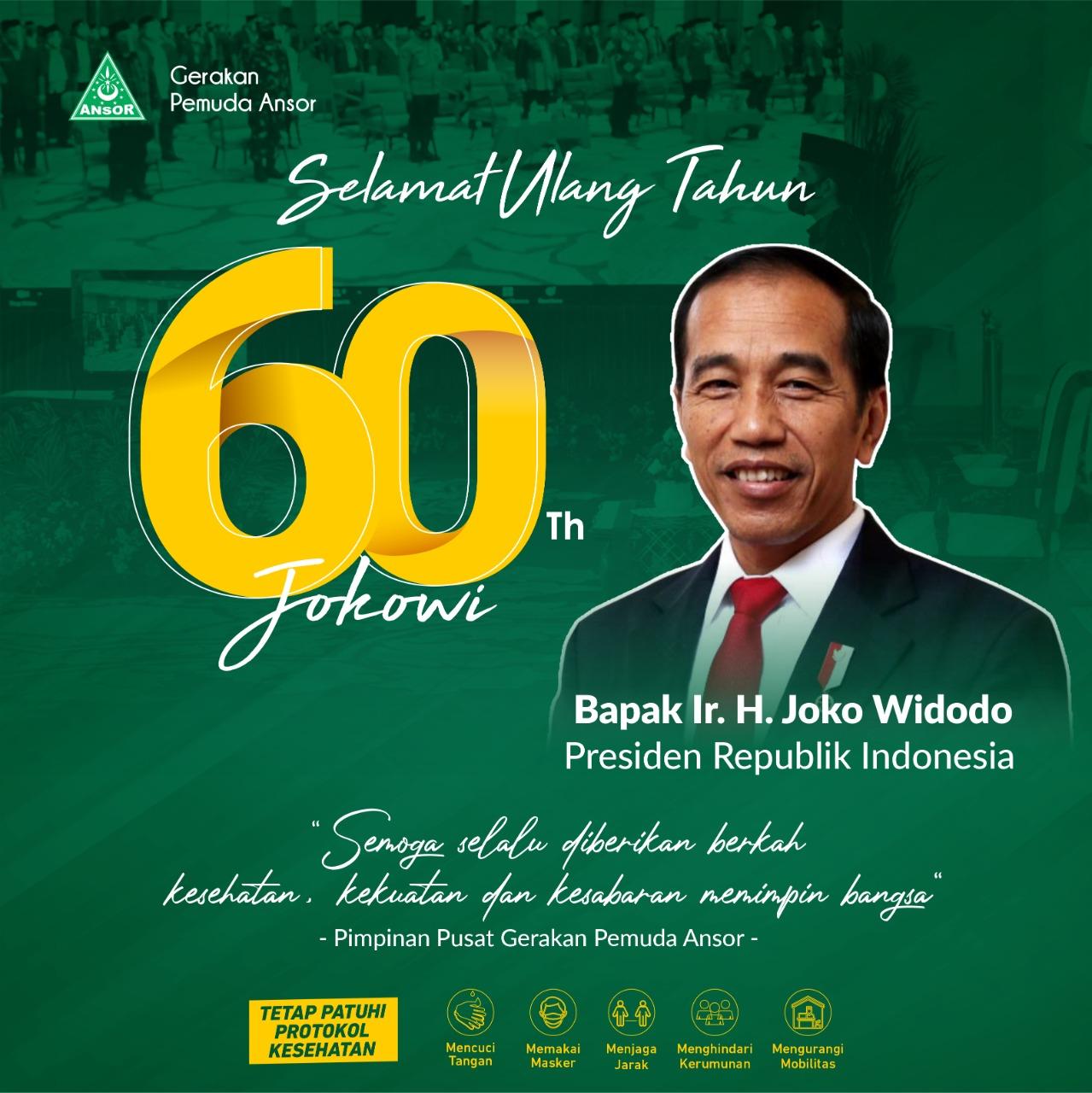 Selamat Harlah Ke 60 Bapak Presiden Jokowi