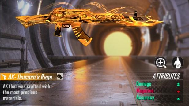 Weapon Royale AK Golden Unicorn Terbaru Free Fire