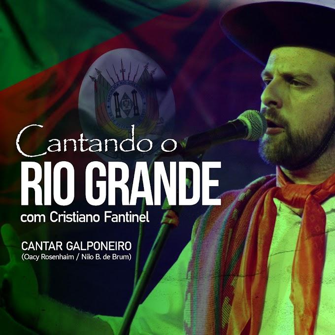 """Cristiano Fantinel lança nesta sexta-feira a primeira música do projeto """"Cantando o Rio Grande"""""""