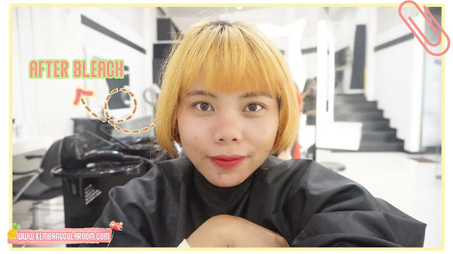 warnain rambut di lineation salon