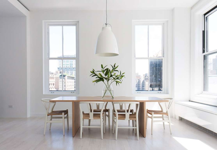 "Dining table in Modern New York Apartment by ""Resolution: 4 Architecture"""