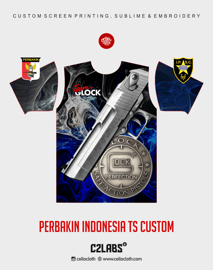 Ts 3 Perbakin Indonesia Baju Kaos Jersey Printing - Vendor Printing Jersey Jogja 2