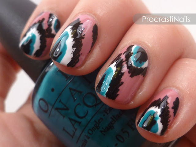 Ikat nails from September 2013 that I recreated for this post