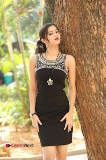 Actress Poojitha Pallavi Naidu Stills in Black Short Dress at Inkenti Nuvve Cheppu Movie Platinum Disc Function  0001.JPG