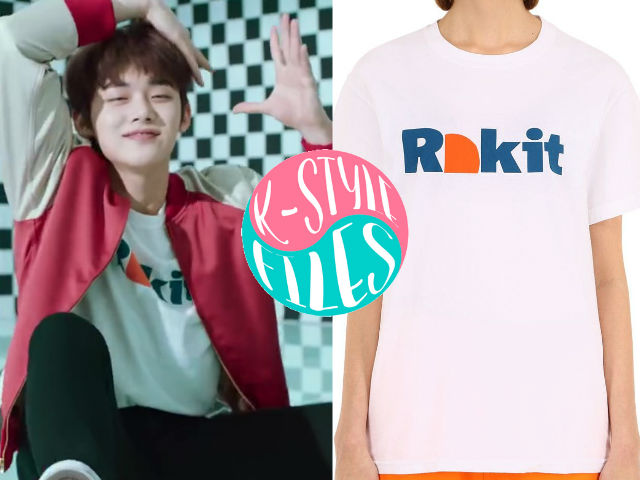 c284f541 Yeonjun is wearing The Climber Cotton Jersey T-Shirt in White BY Rokit