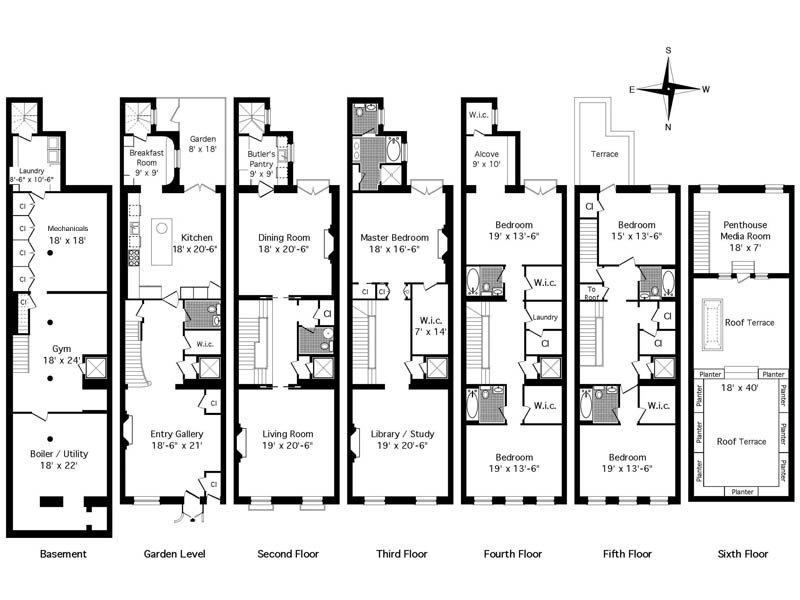 Real estate agent property friday mish mash are the for Stacked townhouse floor plans