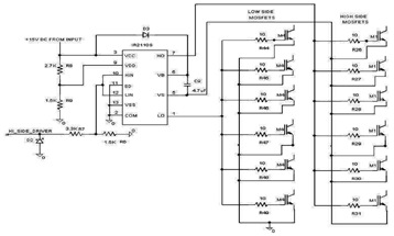 Control Circuit Gate Driver Schematic Diagram using RS2110S IC