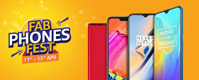 Amazon Fab Phones Fest 11th to 13th April | Discount on iPhone X, OnePlus 6T, OPPO R17 Pro Realme U1, and more