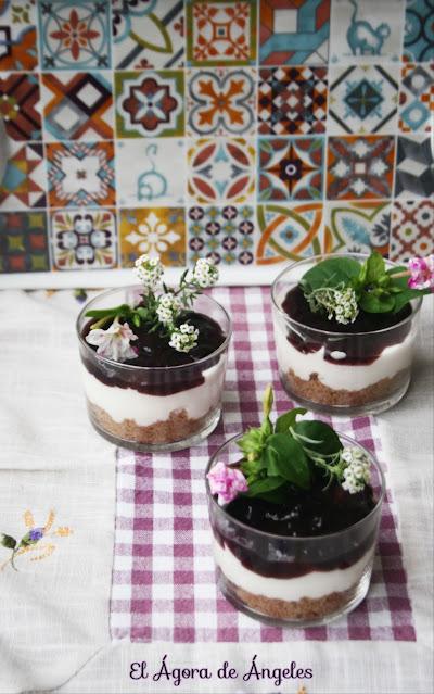 Vasitos de tarta de queso   El Ágora de Ángeles