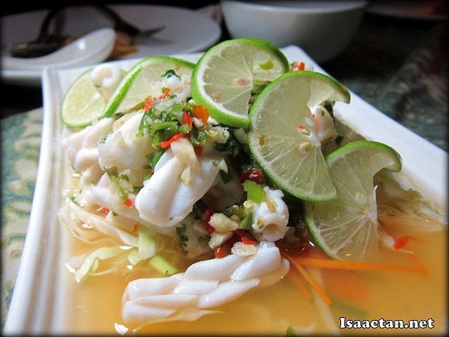 Steamed Squid with Chili and Lime Juice - RM28