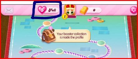 فرص الحياة لعبة كاندي كراش Candy Crush
