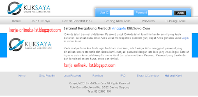 Cara Mendaftar Dan Memasang Iklan PPC Kliksaya Di Blog