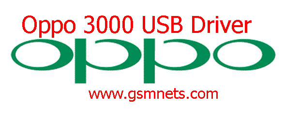 Oppo 3000 USB Driver Download