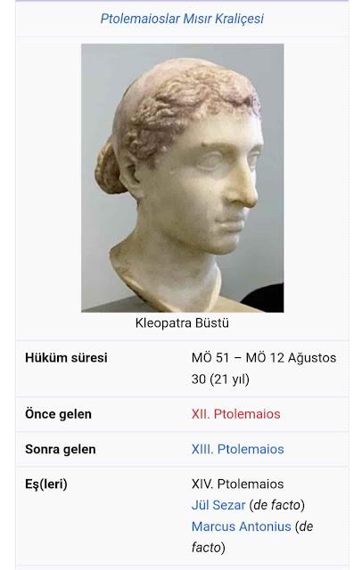 KRALİCE Kleopatra  burada tapmıştır