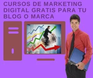 cursos de marketing digital gratis con formación online para aplicar a tu proyecto de empresa, emprendedor, PYME o autónomo en formación netamente online