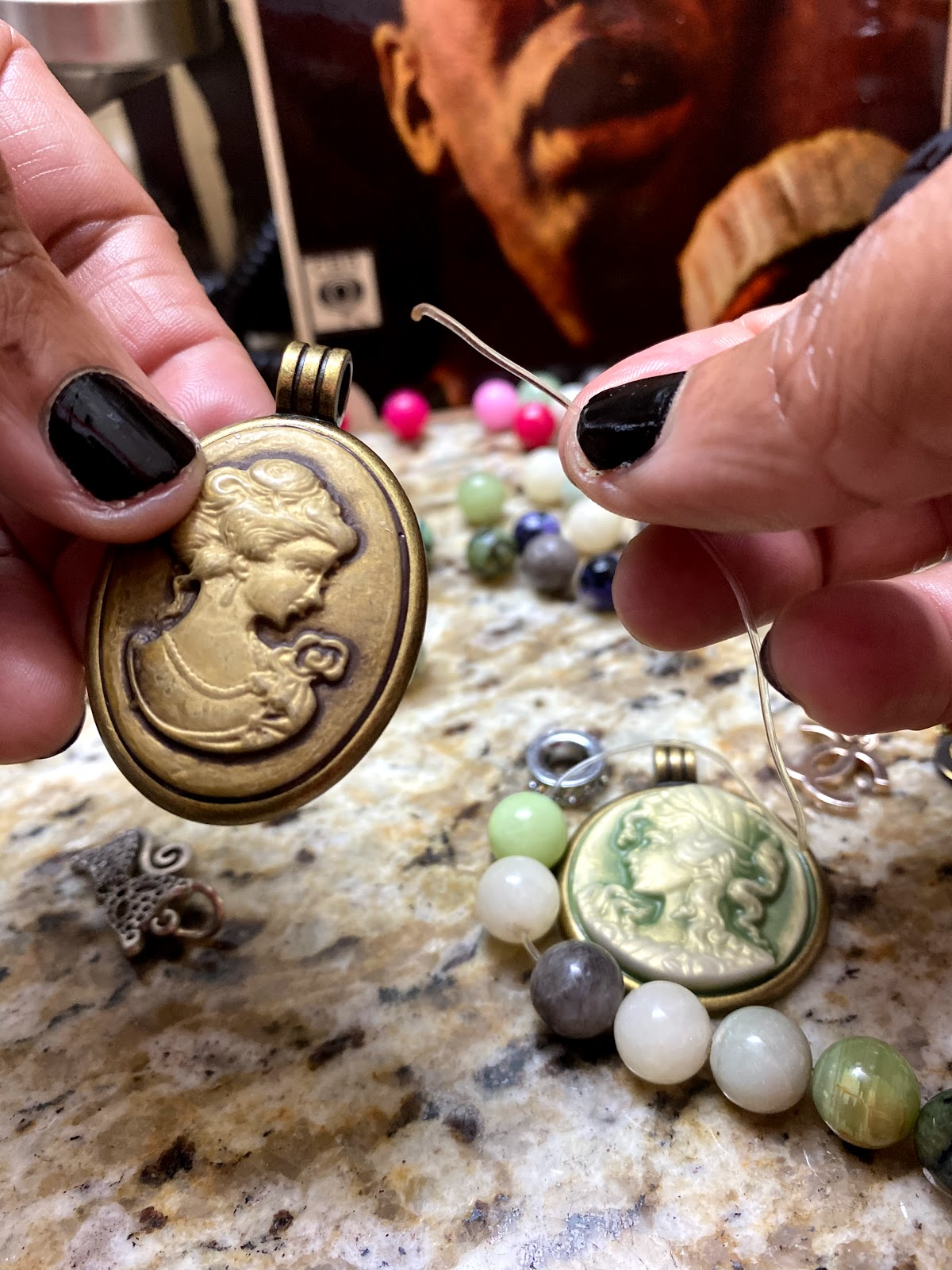 Vintage Pendants that will be used to make bracelets
