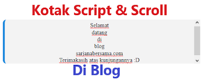 Cara Membuat Kotak dan Scroll untuk Script Dalam Postingan Artikel di Blog Terbaru