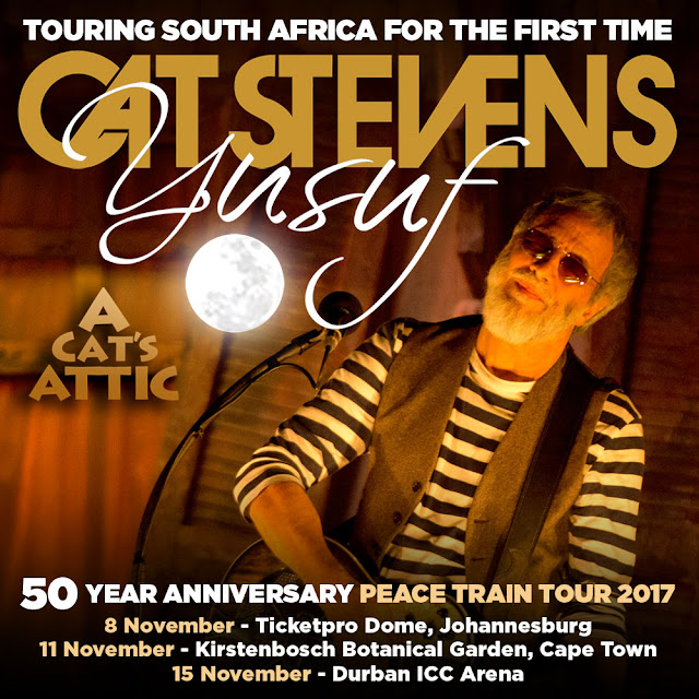 Yusuf Cat Stevens Touring #SouthAfrica For the First Time @Showtime_SA #PeaceTrainTour