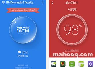 免費防毒軟體 APP:CM Security APK / APP,一鍵檢測手機惡意程式,Android APP