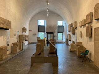 One of the three principal rooms of the Archeology Museum of Bergamo.