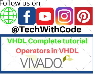 VHDL Operators | VHDL tutorial | TechWithCode
