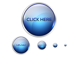 Glossy and shiny round web buttons