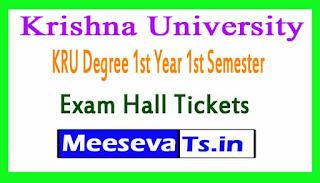 Krishna University KRU Degree 1st Year 1st Semester Exam Hall Tickets