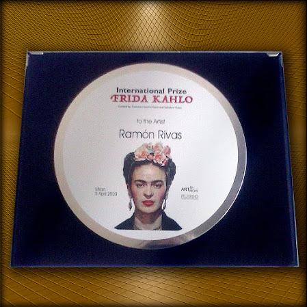 PLACA. Premio Internacional  FRIDA  KAHLO. Entregada a Ramón Rivas