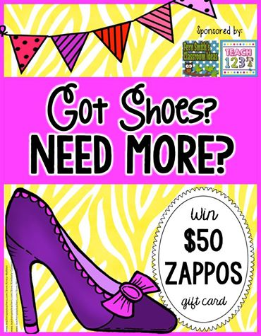 Fern Smith's Classroom Ideas Are You a Tired Teacher Already? It Could Be Your Shoes! We're Having a Zappos Shoe Giveaway!