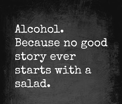 Quote about alcohol and story telling