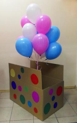 Коробка с воздушными шариками