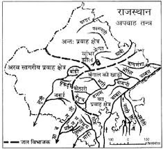 rajasthan ki nadiya ke map in hindi