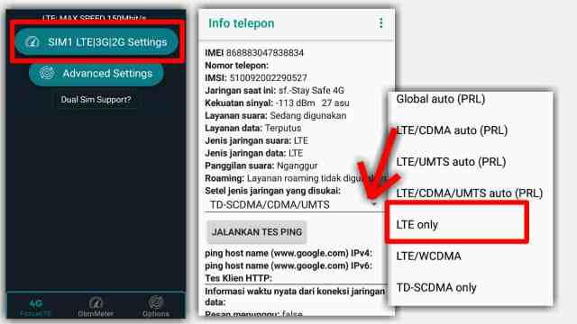 Cara Mengunci Jaringan 4G di HP VIVO menggunakan aplikasi