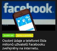 Osobní údaje a telefonní čísla milionů uživatelů Facebooku zveřejněny na internetu. - AzaNoviny